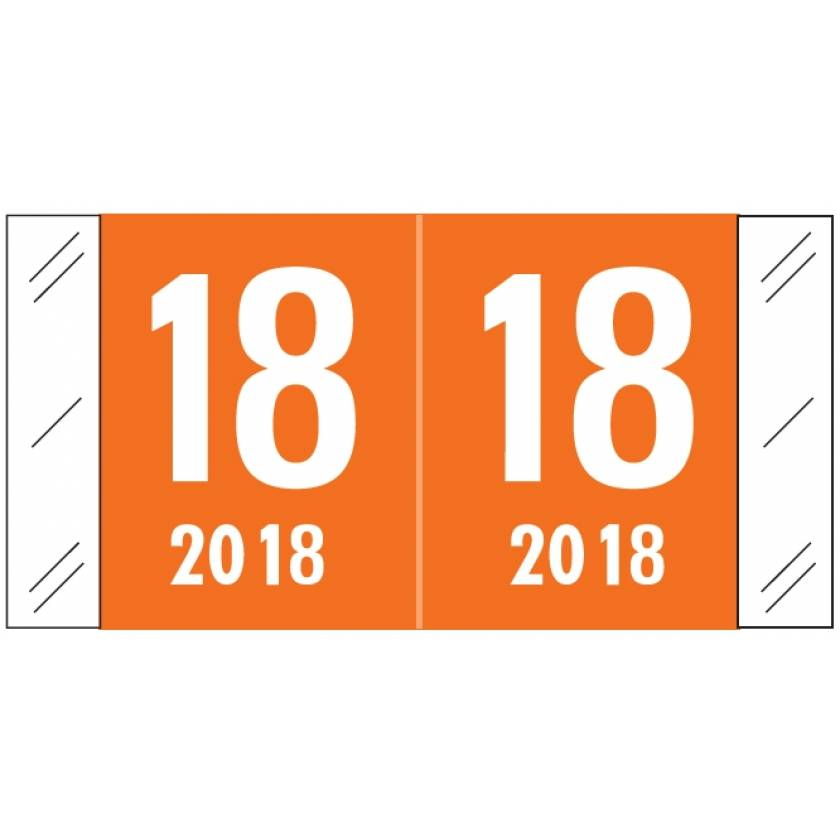 """2018 Year Labels - Col'R'Tab Compatible - Size 3/4"""" H x 1 1/2"""" W"""