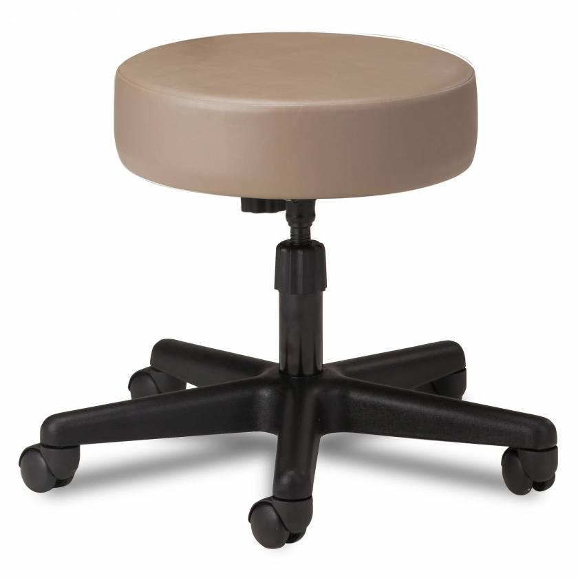 "Clinton Model 2130 5-Leg Spin Lift Stool With 24"" Diameter Black Base"