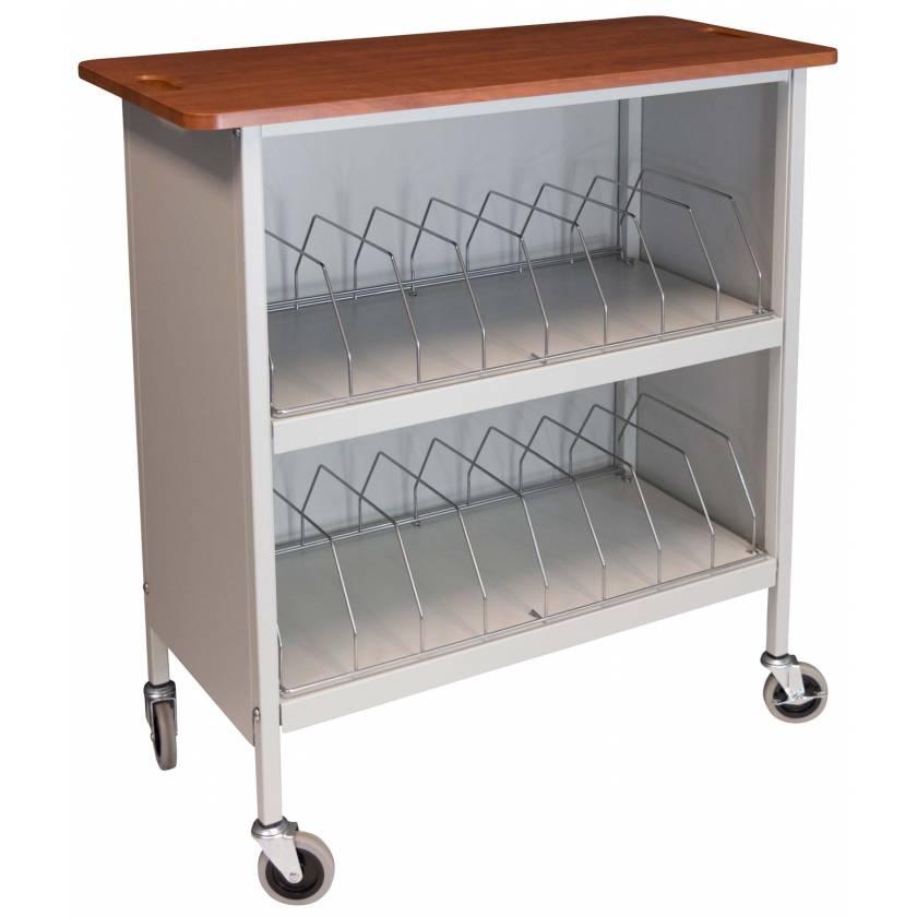 Artisan Vertical Cabinet Rack Cherry Top - 16 Capacity