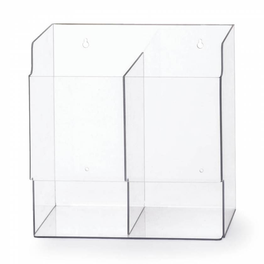 OmniMed 305392 Acrylic Double Surgical Glove Box Holder