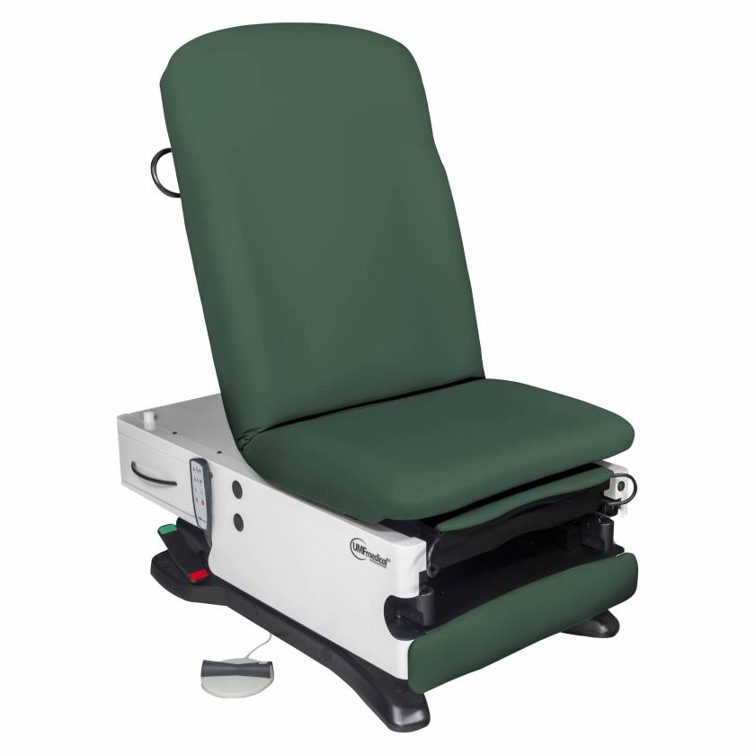 Model 4070-650-300 ProGlide300 Power Exam Table with Power Hi-Lo, Manual Back, WheelBase, Foot Control and Programmable Hand Control - Deep Forest