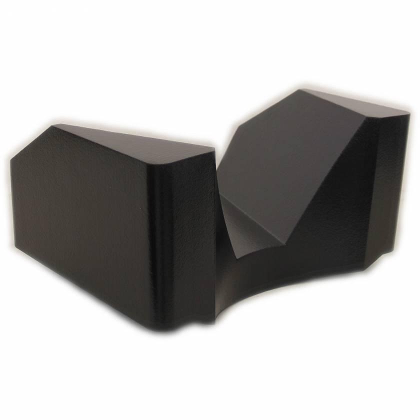 """Domico Med-Device 439-SCB Winged Shoulder Support - ScanCoat Black - 10 1/3""""H x 19""""W x 14 5/8""""L"""