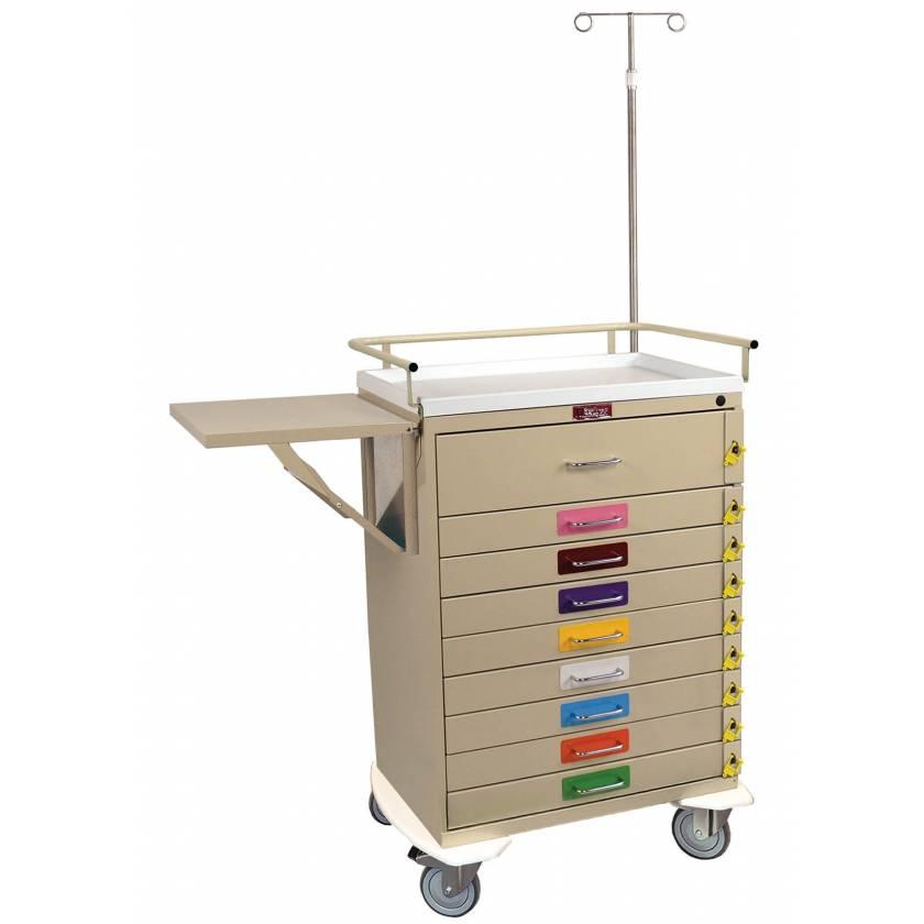 Harloff 6401PEC Pediatric Emergency Cart 9 Drawer Individual Breakaway Locks, Pack of Color Label Decals, Specialty Package