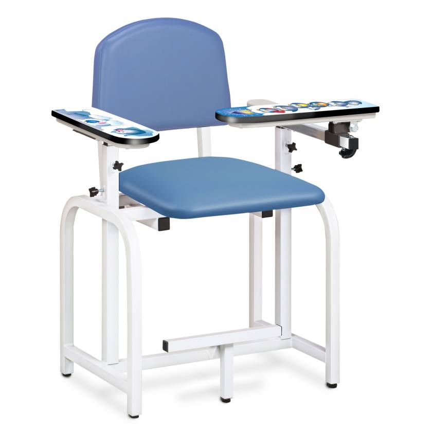 Clinton Pediatric Series Arctic Circle Blood Drawing Chair with Flip Arm and Right Armrest Model 66011-AC