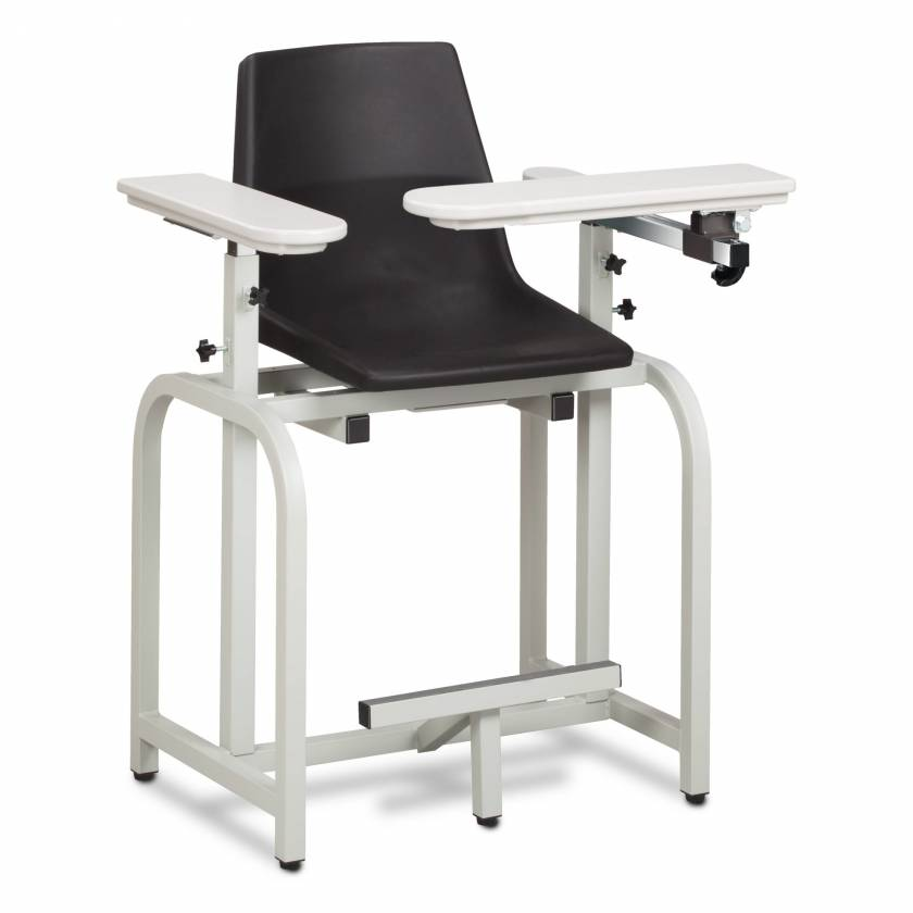 Clinton Standard Lab Series Extra-Tall Blood Drawing Chair with Flip-Arm Model 66011-P