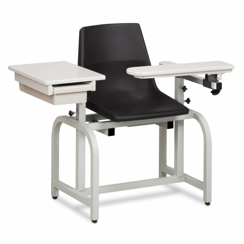 Clinton Standard Lab Series Blood Drawing Chair with Drawer and Flip-Arm Model 66029-P