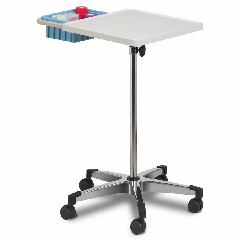 Clinton 6900-B Mobile Phlebotomy Work Station with Bin