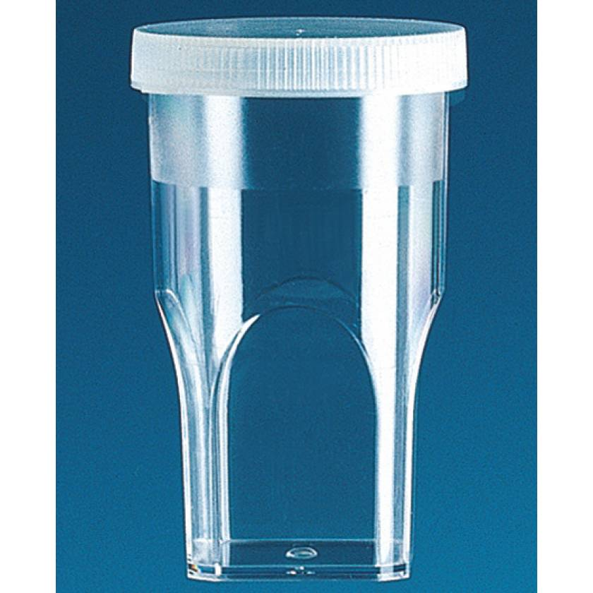 BrandTech Sample Cups with Lids for Coulter Counter - 20mL