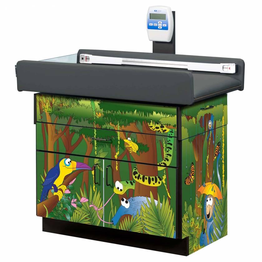 Clinton Model 7832 Theme Series Pediatric Scale Table  - Rainforest Follies