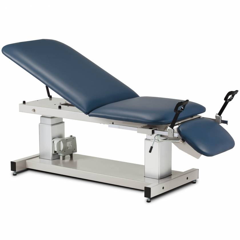 """Clinton 80069 27"""" Wide Multi-Use Ultrasound Power Table with Stirrups"""