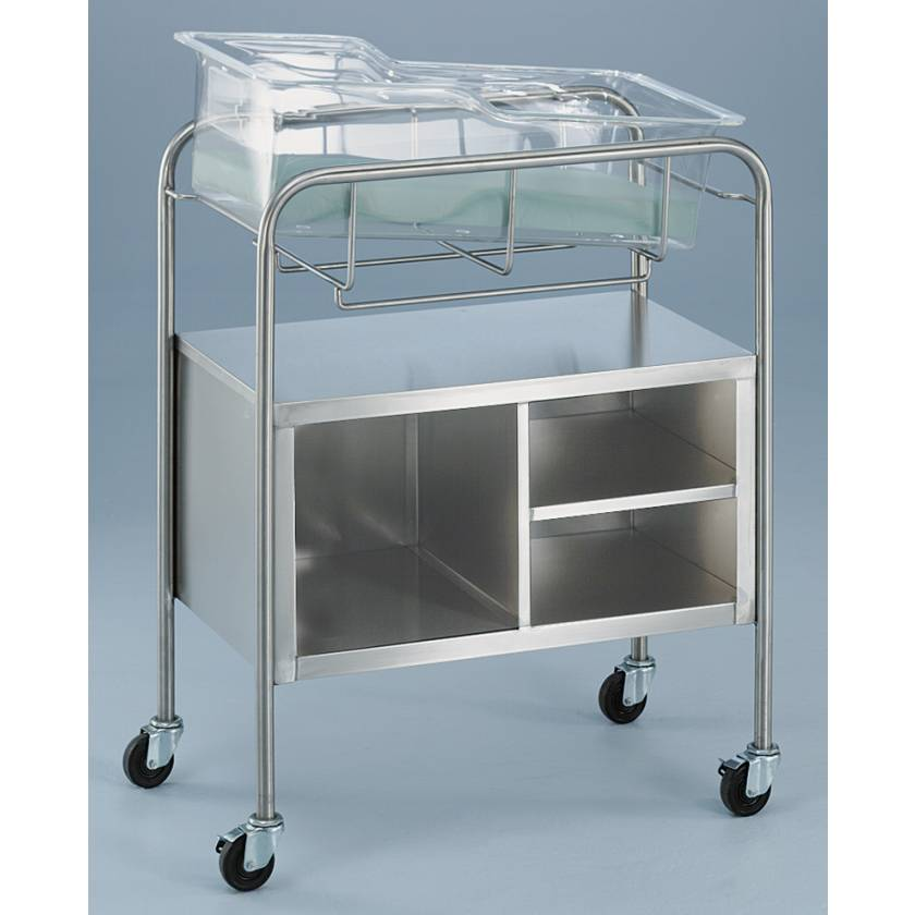 Bassinet with Open Cabinet