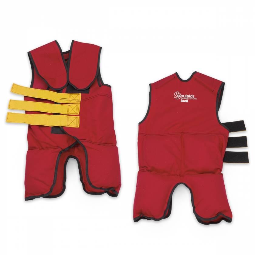 Simulaids Training Vest - 25 lb. - Medium - Red