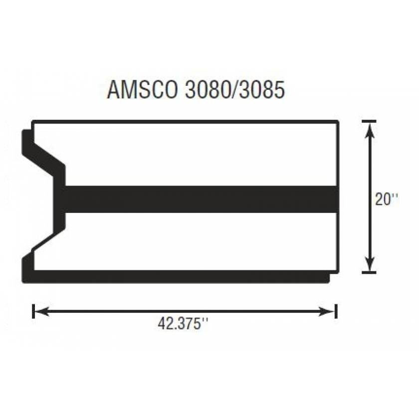 "Amsco 3080/3085 Deluxe Body Section 2"" Thick"