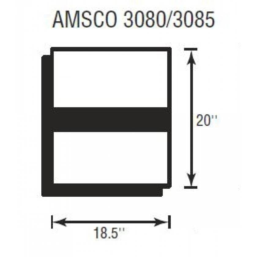 """Amsco 3080/3085 Deluxe Foot Section 3"""" Thick"""