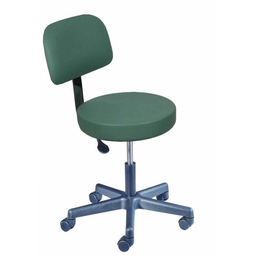 Value Plus Pneumatic Stool with Backrest & Seamless Seat