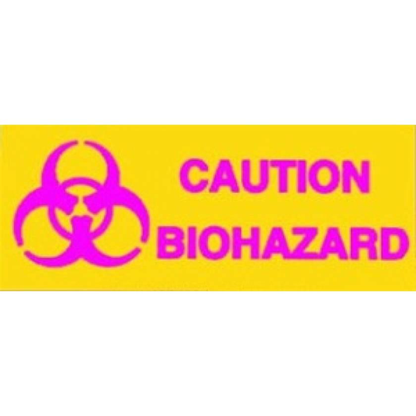 Silk Screened Sign Caution Biohazard
