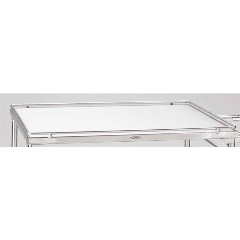 Pedigo Stainless Steel Solid Shelf With Guardrails for CDS-153 Case Cart