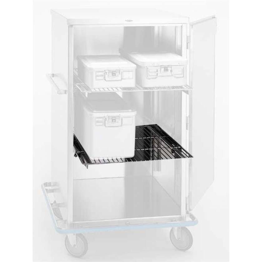 Pedigo Stainless Steel Roll Out Wire Shelf for CDS-242 and CDS-245 Surgical Carts