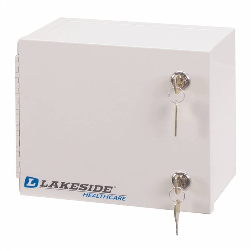"""Lakeside Small Narcotic Cabinet, Single Door, Double Lock - 7.25"""" H x 8.75"""" L x 6"""" W"""
