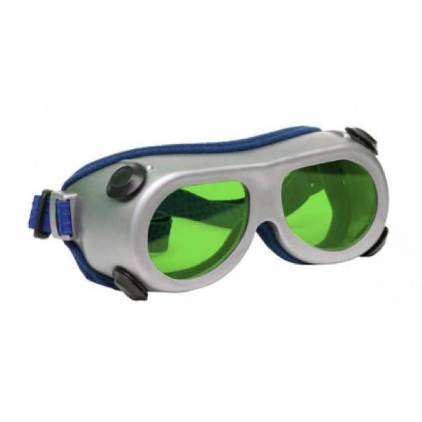 Flat Glass Model 55 Laser Glasses - Pale Green Lenses