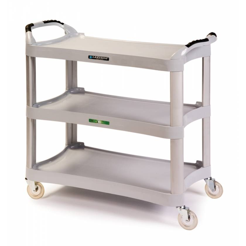 Lakeside Medium Duty Stain Resistant Plastic Utility Cart - Light Gray