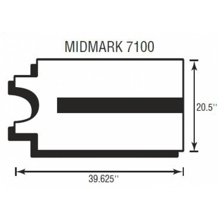 """Midmark 7100 Softcare Body Section 2"""" Thick"""