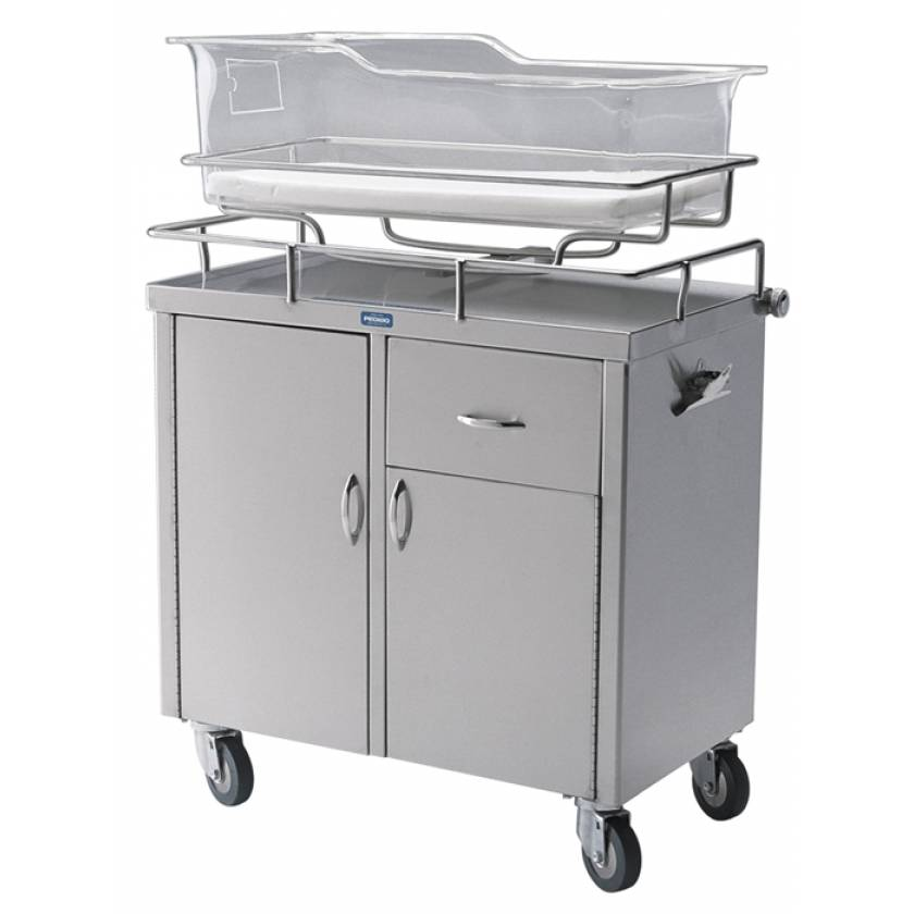 Pedigo Stainless Steel Bassinet Cabinet With Doors