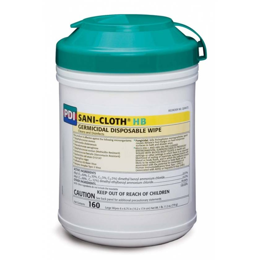 """Sani-Cloth HB Germicidal Disposable Wipes - Wipe Size 6""""x6.75"""""""