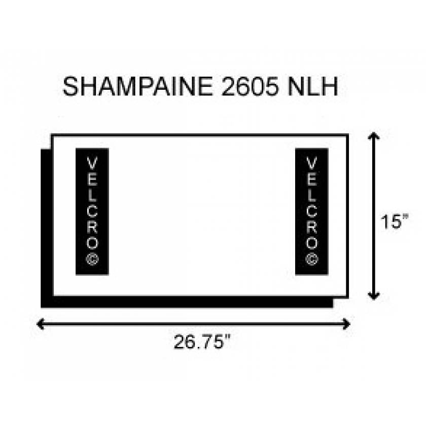 "Shampaine/MDT/Getinge 2605 NLH 054431 Deluxe Leg Section 3"" Thick"