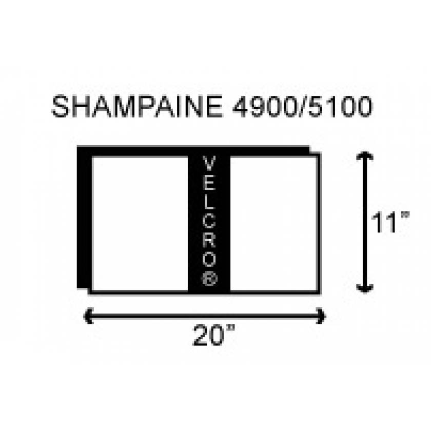"""Shampaine/MDT/Getinge 4900/5100 Deluxe Head Section 2"""" Thick"""