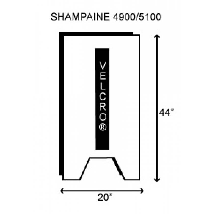 "Shampaine/MDT/Getinge 4900/5100 Deluxe Back/Seat Section 2"" Thick"