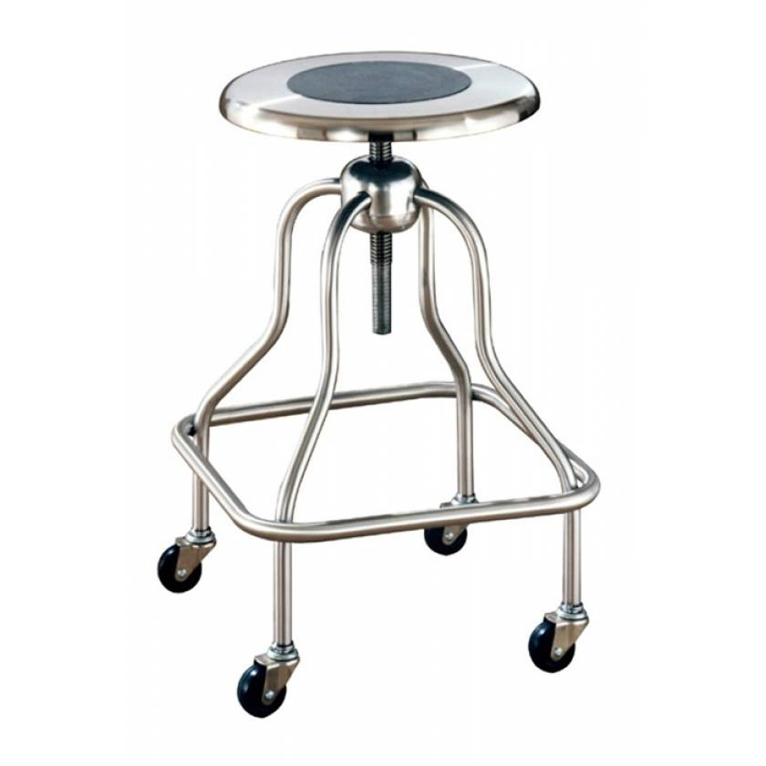 Stainless Steel Revolving Stool - Short