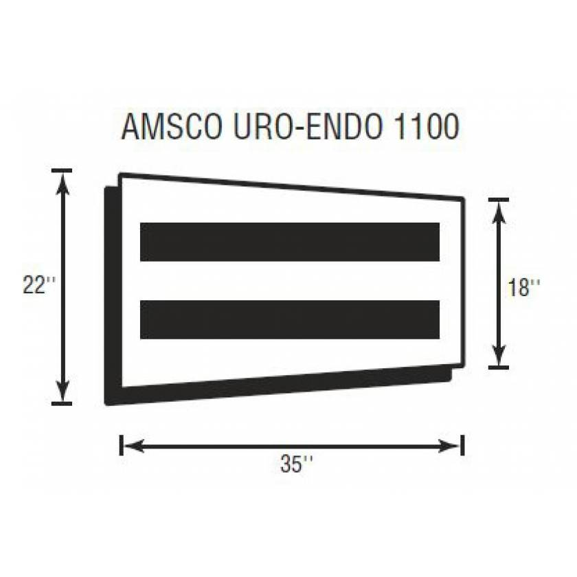 "Amsco Uro-Endo 1100 Softcare Standard Leg Section 2"" Thick"