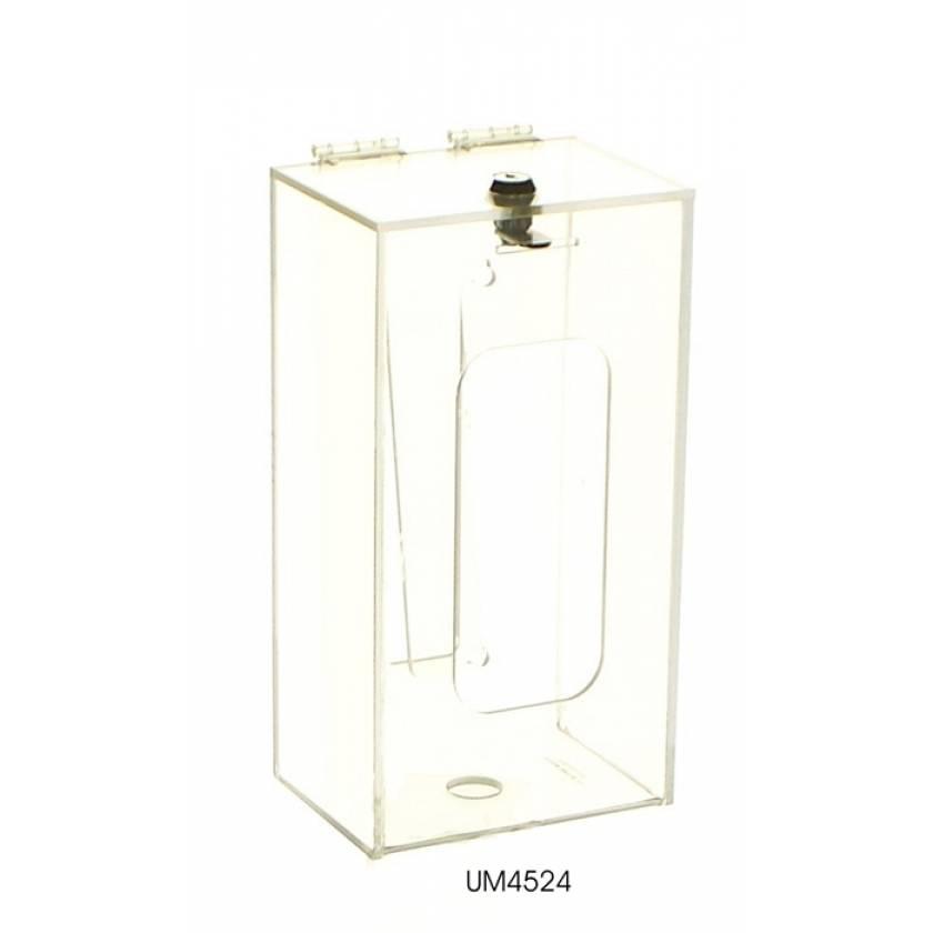 Single Box Glove Dispenser with Locking Lid