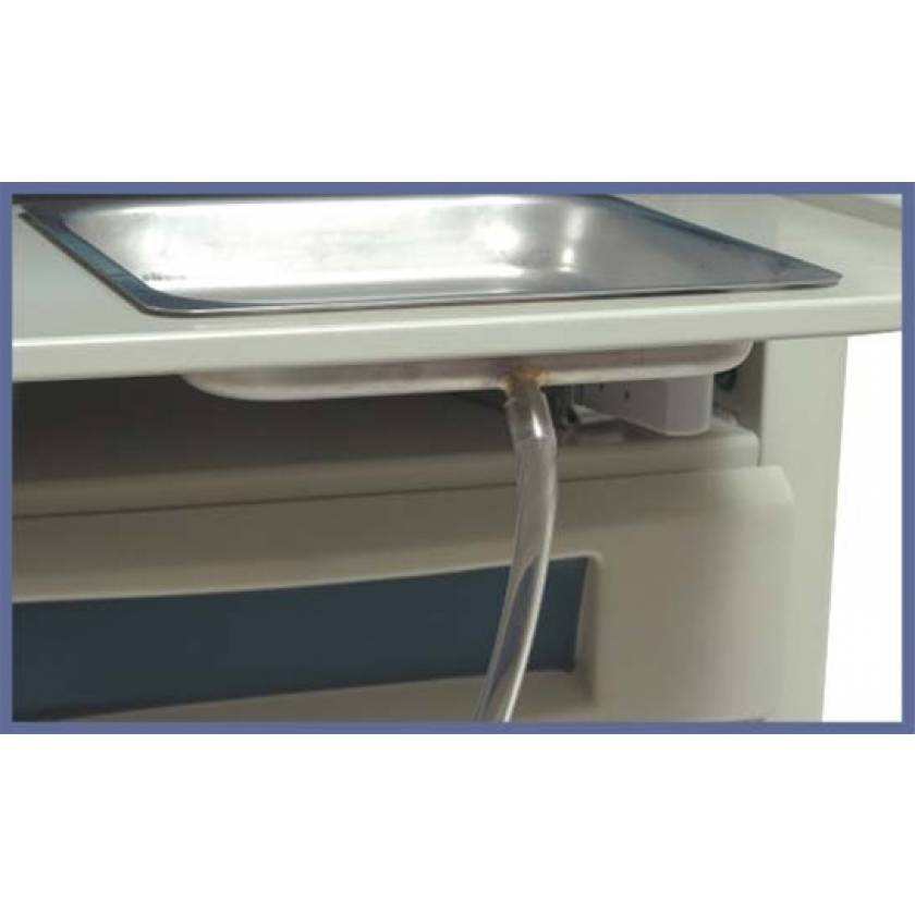 Stainless steel drain pan w/spout