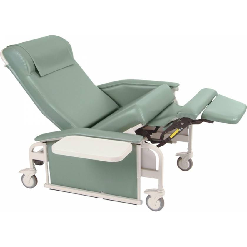 Extra Large Drop Arm Care Cliner with Steel Casters