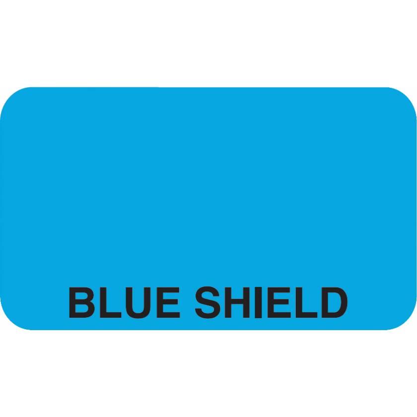 "BLUE SHIELD Label - Size 1 1/2"" x 7/8"""