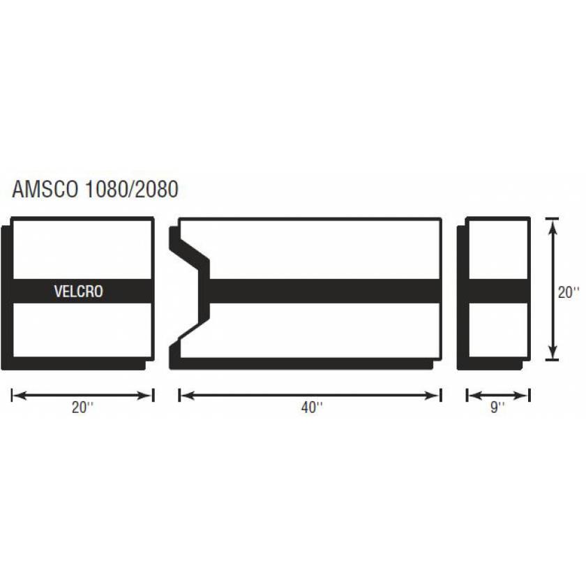 Amsco 1080/2080 3 Piece Table Pad Set