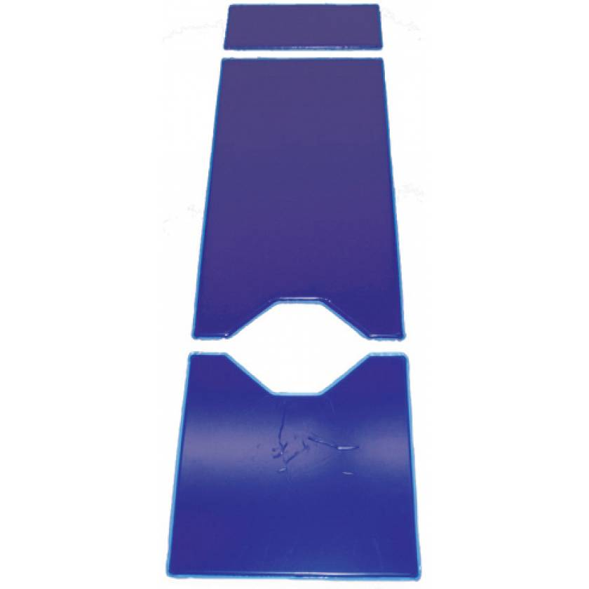 3 Piece Gel Table Pad Set with Cutouts