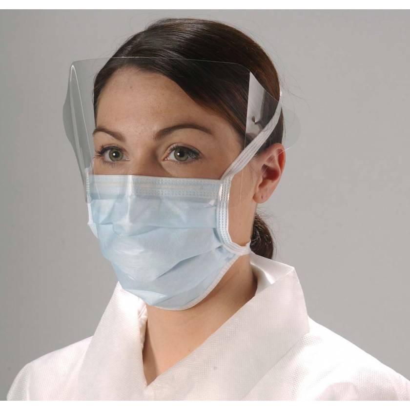 ShieldMate Tie Mask with Eye Shield and Anti-Fog Foam Strip