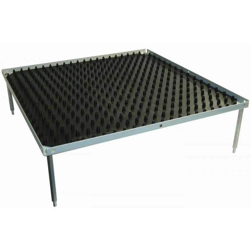 "Optional Stacking Platform With Dimpled Mat - Large 12""x12"""