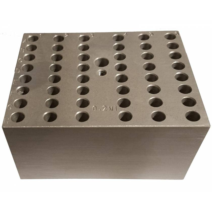 Block For Digital Dry Bath - 48 x 0.2ml Tubes or 6PCR Strips
