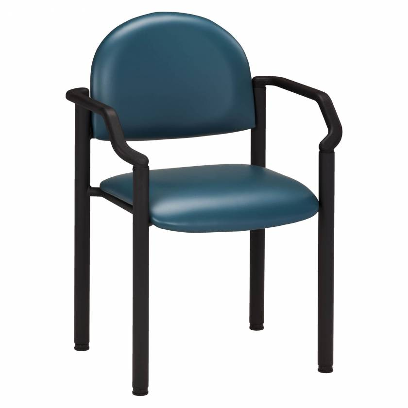 Clinton Model C-50B Premium Side Chair with Arms & Wall Guard
