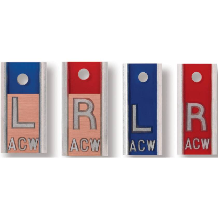 Aluminum Copper Markers - 1 to 3 Initials (Two Sets)