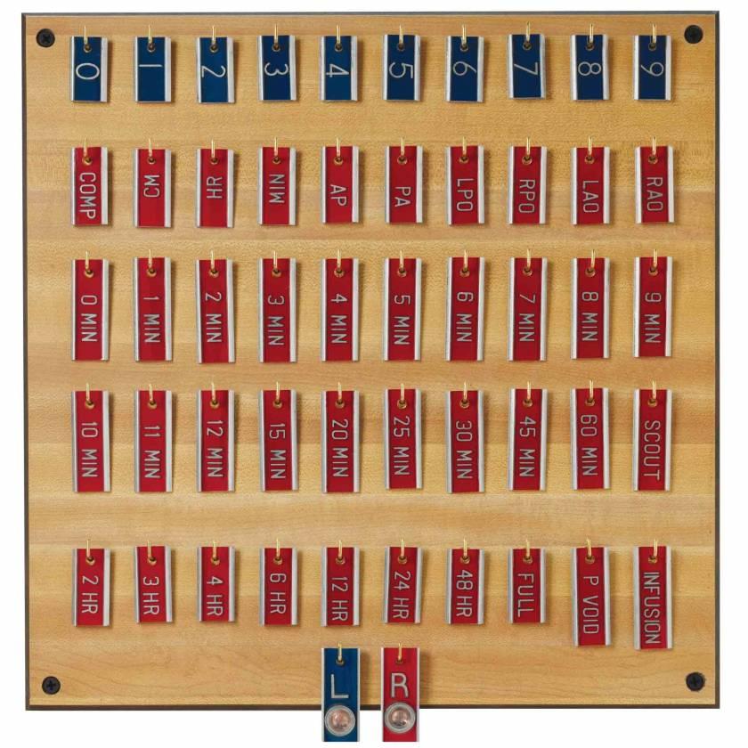 "Aluminum IVP Marker Set - 3/8"" Height Characters"