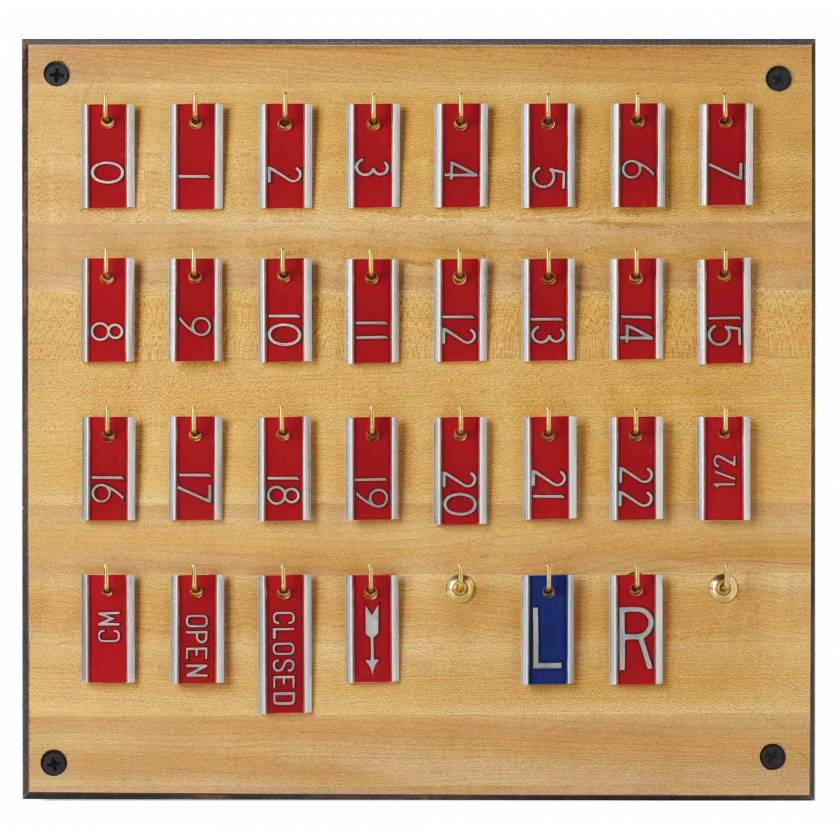 """Aluminum Tomography Marker Set - 3/8"""" Height Characters"""