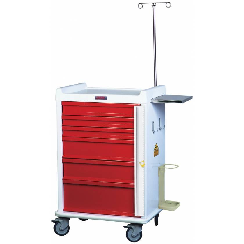 MRI Emergency Cart 6 Drawer - Specialty Package with Breakaway Lock