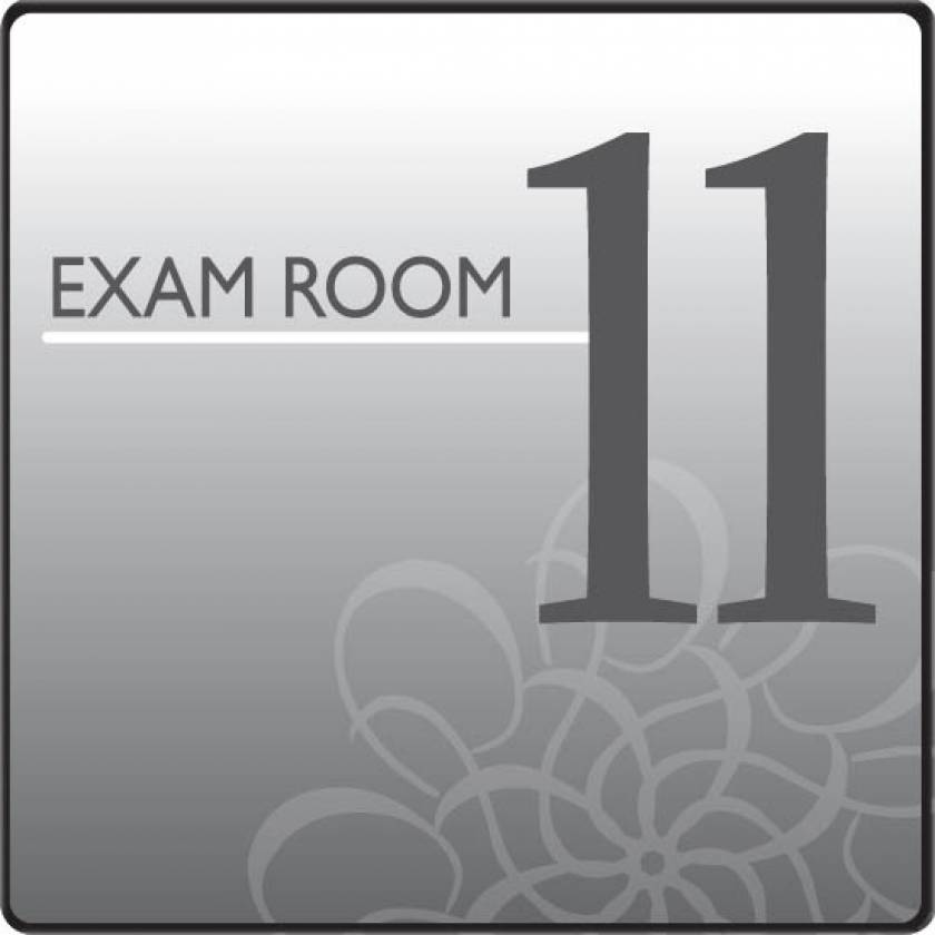 Clinton EX11-S Standard Exam Room Sign 11