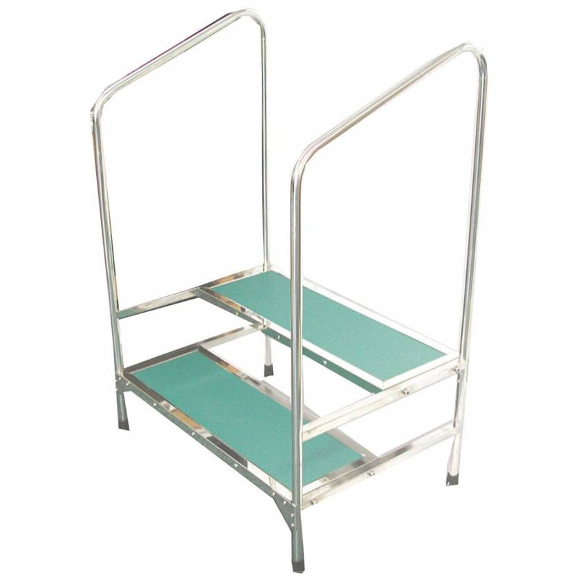 MRI Non-Magnetic Double Step Stool with Handrail