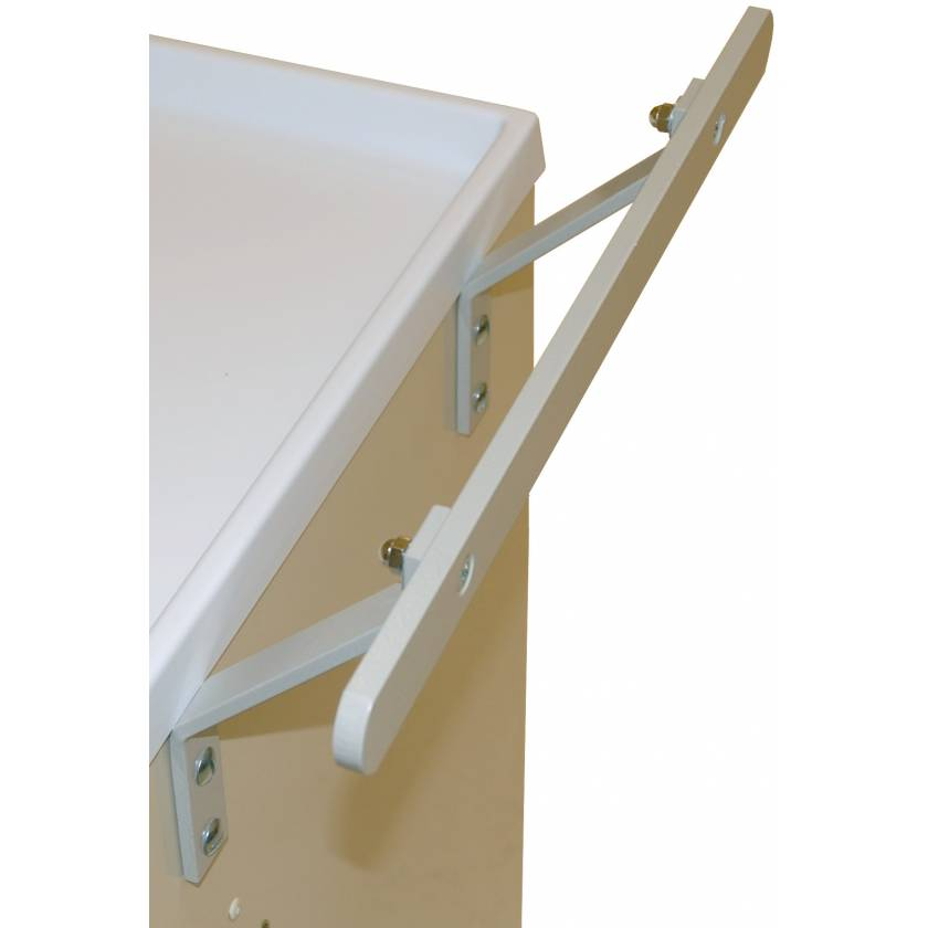 Offset Push Handle for Classic and Universal Line Carts - Flat Rail Style